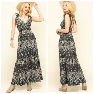 Free People Let's Smock About it Maxi Dress NWT